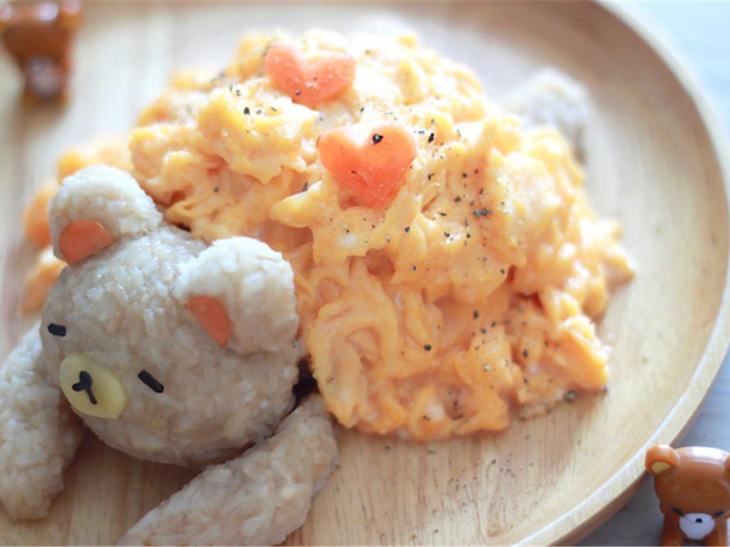 萌到融化的轻松熊蛋包饭 菜谱   赛厨易