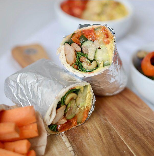 地中海风味蔬菜姜黄鹰嘴豆泥鸡肉卷 菜谱 | 赛厨易