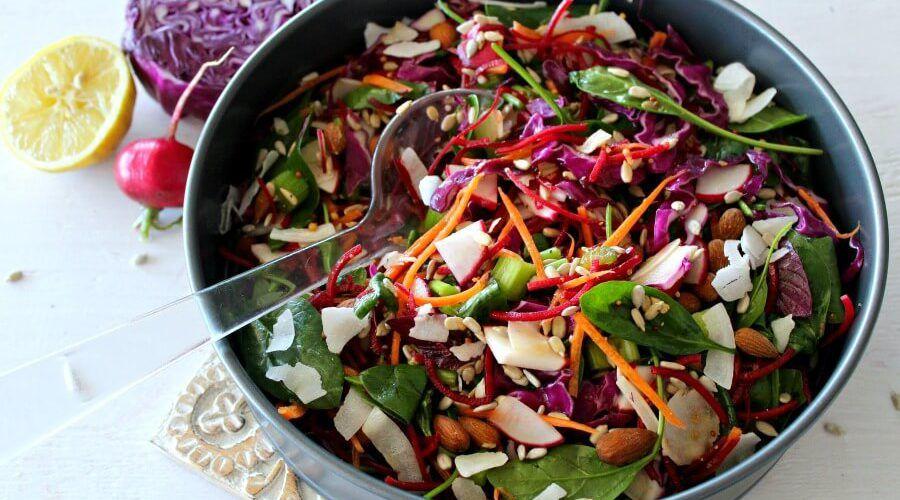 红甘蓝菠菜甜菜根排毒沙拉 菜谱 | 赛厨易