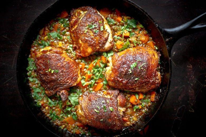 柏柏尔酱鸡配埃塞俄比亚扁豆 菜谱   赛厨易