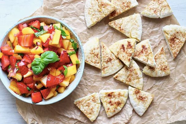 草莓芒果沙司配肉桂糖饼 菜谱   赛厨易