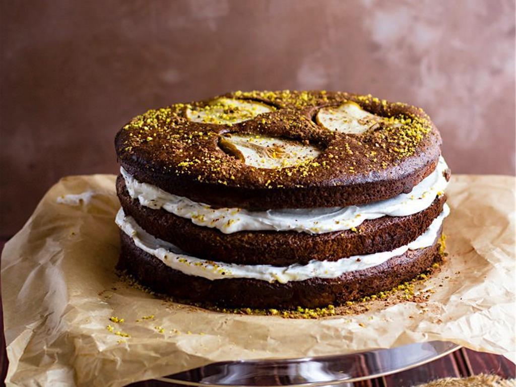 开心果巧克力生梨蛋糕 菜谱   赛厨易