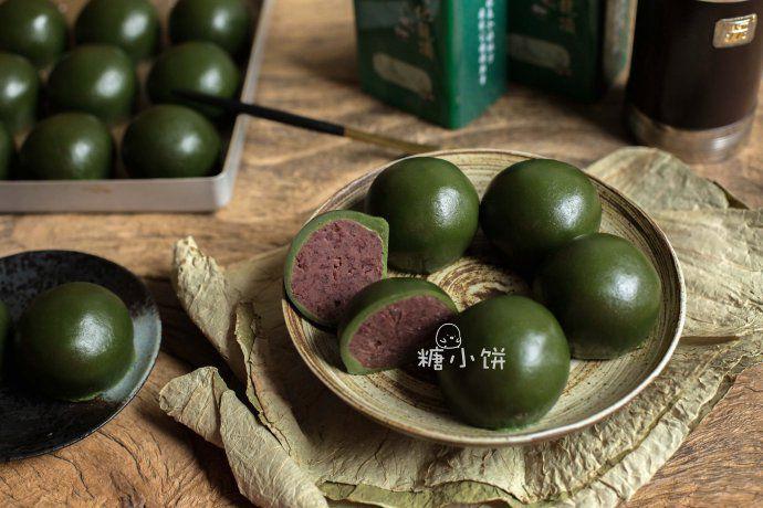 【青团(艾草版)】猪油红豆馅 菜谱 | 赛厨易