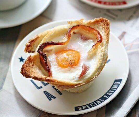 培根鸡蛋吐司杯 菜谱   赛厨易