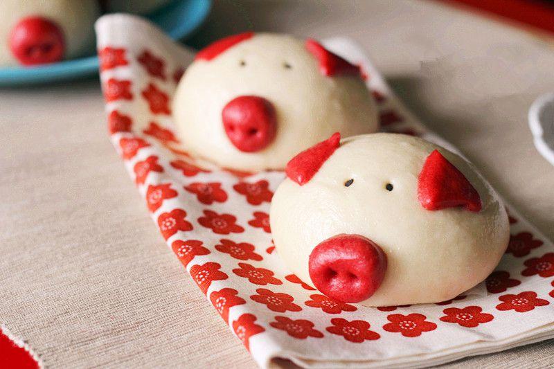 萌小猪豆沙包 菜谱   赛厨易